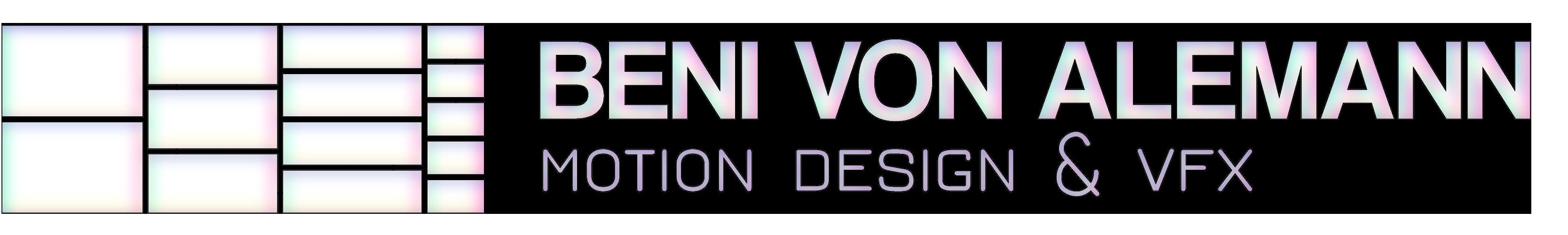 Beni von Alemann – Motion Design & VFX